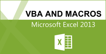 Online Training Course on Excel 2013 Expert - VBA and Macros (MS Excel 2013 VBA & Macros)